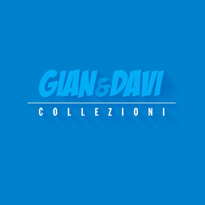 4.0210 40210 Car Driver Smurf Puffo con Macchina Rossa 1B