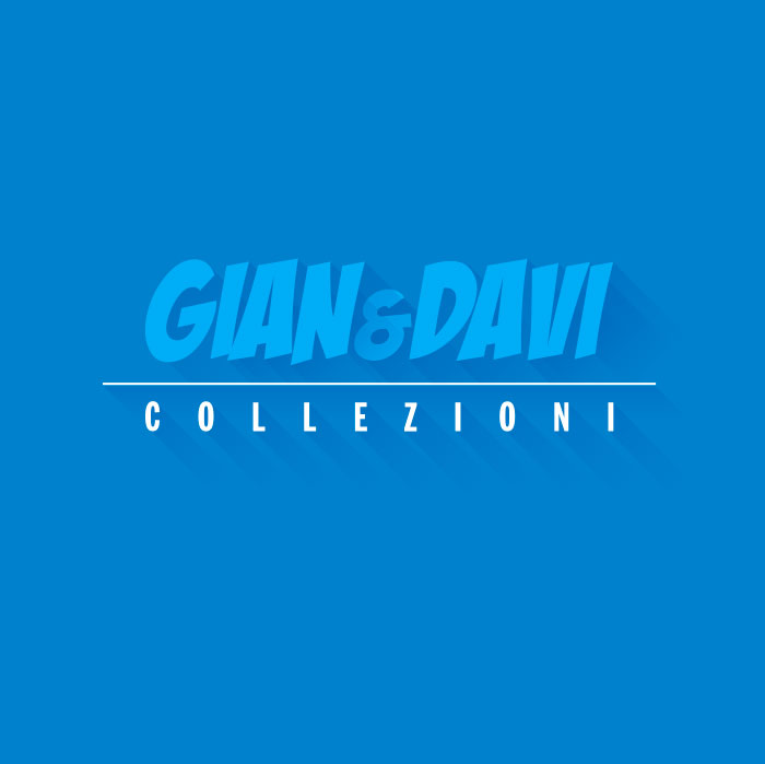 4.9013 49013 Blue/Red cottage Casa Piccola Blu Rossa  2A + BOX PEYO Scritte